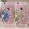 "Luxury Sunflower Diamond 3D Rhinestone Case Soft Clear TPU Case For iphone 6 6S 4.7 inch & iPhone6 Plus 5.5"" 5se 5s 5 4 4s Cover"