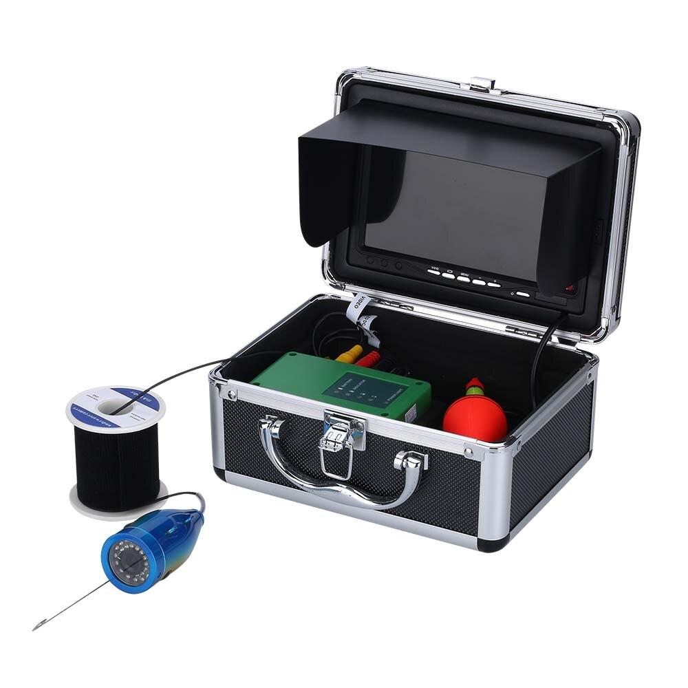 7 zoll Monitor 15M 1000TVL Fisch Finder Unterwasser Angeln Video Kamera 30 stücke LEDs Wasserdicht Fisch Finder CMOS Sensor