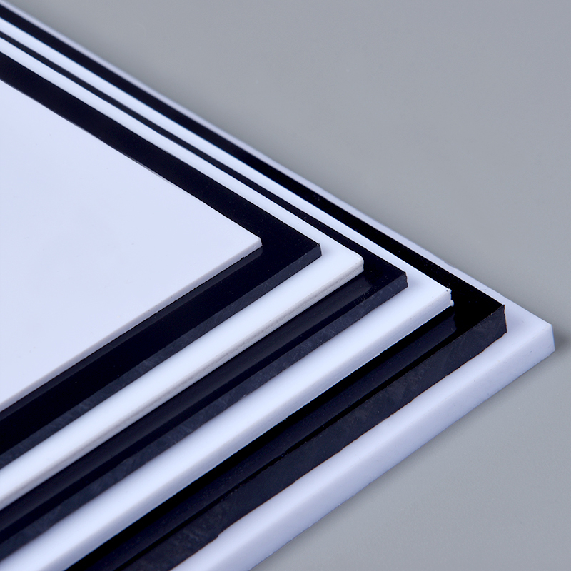DIY Model Making ABS White&black Sheet From Size 0.5mm-5mm Use For Customization Model House Wall Making Changing