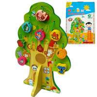 Kids Educational Toys Lacing Animal truit Wooden Puzzles for Children Toddler Early Education Teaching Development