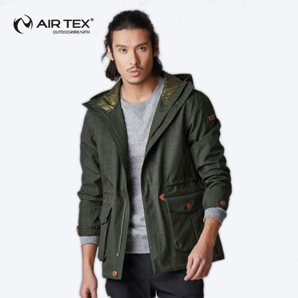 AIR TEX New waterproof breathable business jacket men and women single layer Jackets warm jacket mens hooded trench coat