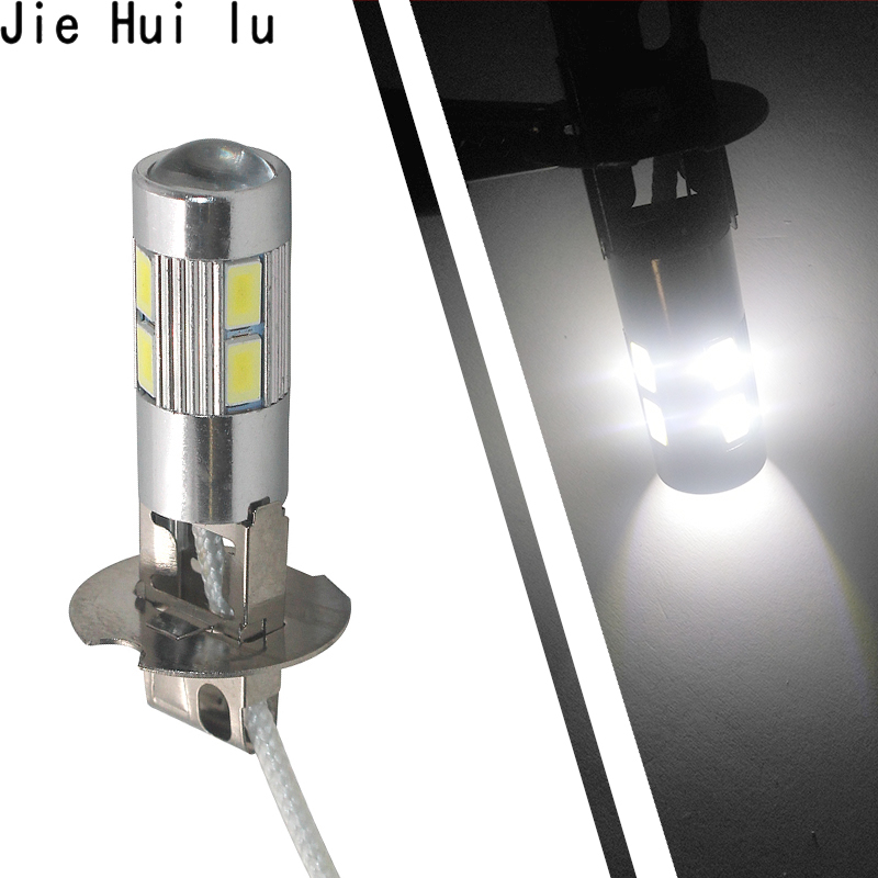 H3 White 10 LED 5630 SMD LED Car Auto Bulb Tail Turn Fog High Beam Driving Light