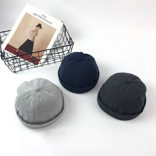 6e74fc35e56c2 2018 Brand New Men Casual Adjust Docker Hat Sailor Cap Mechanic Biker Hat  Skull Cap Beanie