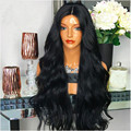 Natural Brazilian Loose Body Wave Heat Resistant Synthetic Lace Front Wigs For Black Women Middle part Best Lace Front Wig