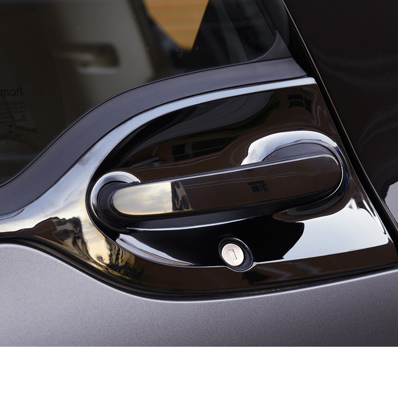 lsrtw2017 stainless steel car door bowl handle trims for smart fortwo 2014 2015 2016 2017 2018 2019