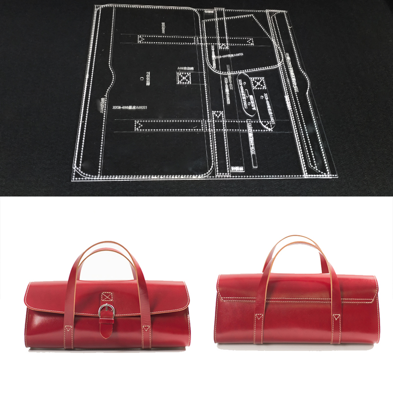 Handmamde Handbag Acrylic Template Leather Pattern DIY Hobby Leathercraft Sewing Pattern Stencils 24x14x12cm