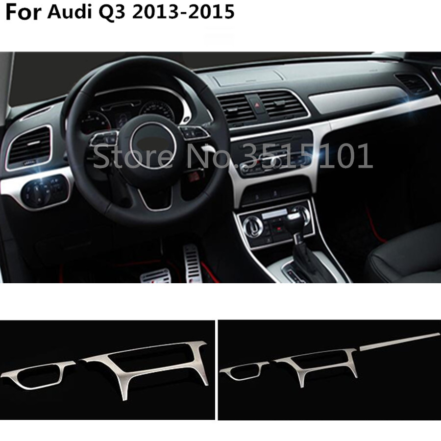 car glove box cover detector trim middle console control dashboard panel For Audi Q3 2013 2014 2015