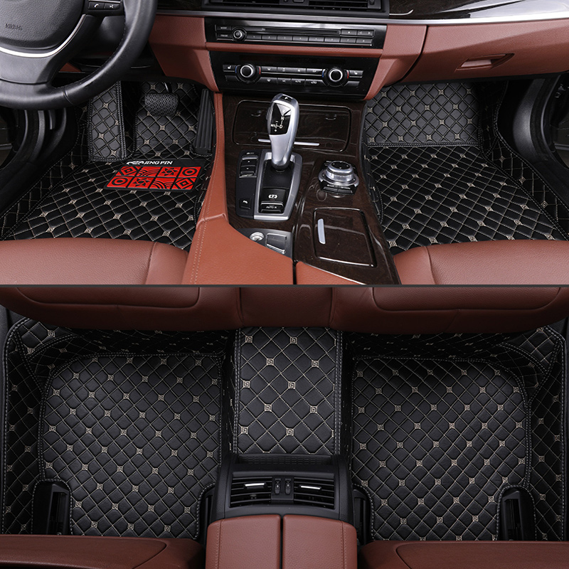 Custom car floor mats for Volkswagen All Models vw passat b5 6 polo golf tiguan jetta touran touareg car styling auto floor mat in Floor Mats from Automobiles Motorcycles