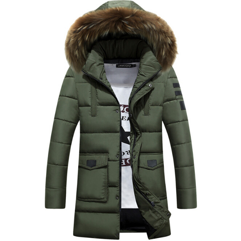 The city Metrosexual cotton coat 2017 winter new youth down in the long section of cotton padded male Korean slim thickened fur московская меховая компания московская меховая компания mp002xm051uj
