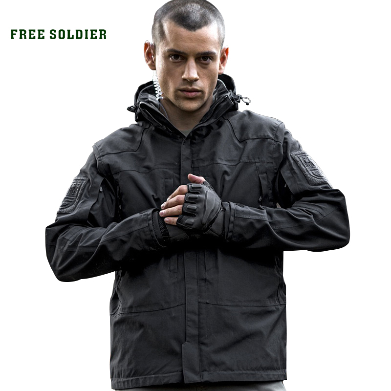 FREE SOLDIER outdoor tactical military jacket wear resistant breathable waterproof for camping hiking clothing warm lining