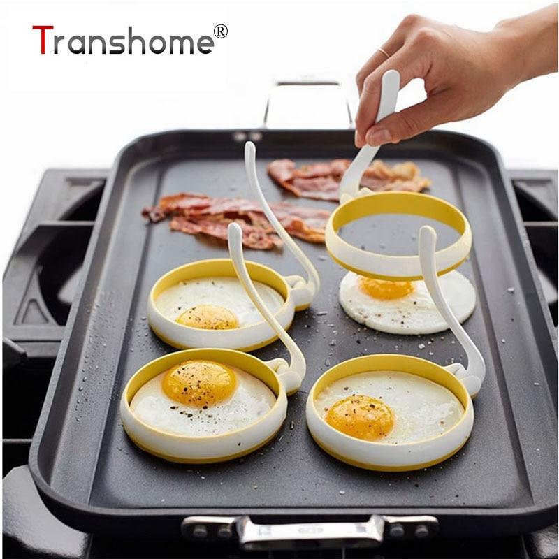Tronzo Egg Tools 2 unids/set de alta temperatura redondo de silicona Omelette máquina circular forma de huevo frito molde hornear pastelería herramienta