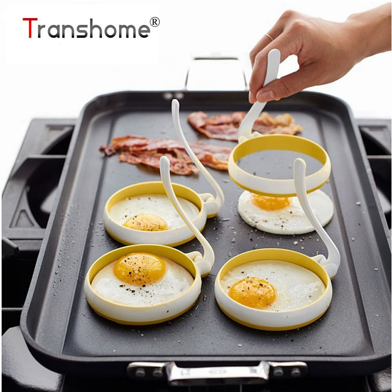 Tronzo huevo Herramientas 2 unids/set alta temperatura ronda silicona tortilla máquina círculo en forma de huevo frito molde pastelería herramienta