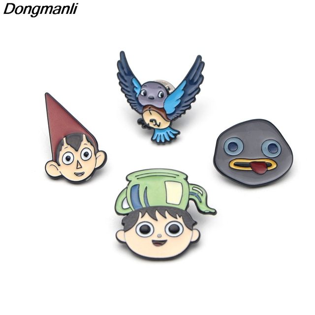 US $34 19 5% OFF|P2308 Dongmanli 20pcs/lot wholesale Cartoon Over the  Garden Wall Metal Enamel brooch Backpack pins Bag/Jeans badge Jewelry-in