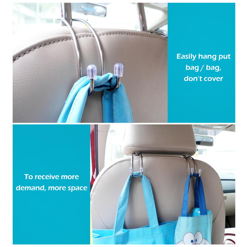 Image 5 - Metal Clips car seat hook auto headrest hanger bag car bag storage bag cloth bag fixing car accessories-in Rear Racks & Accessories from Automobiles & Motorcycles