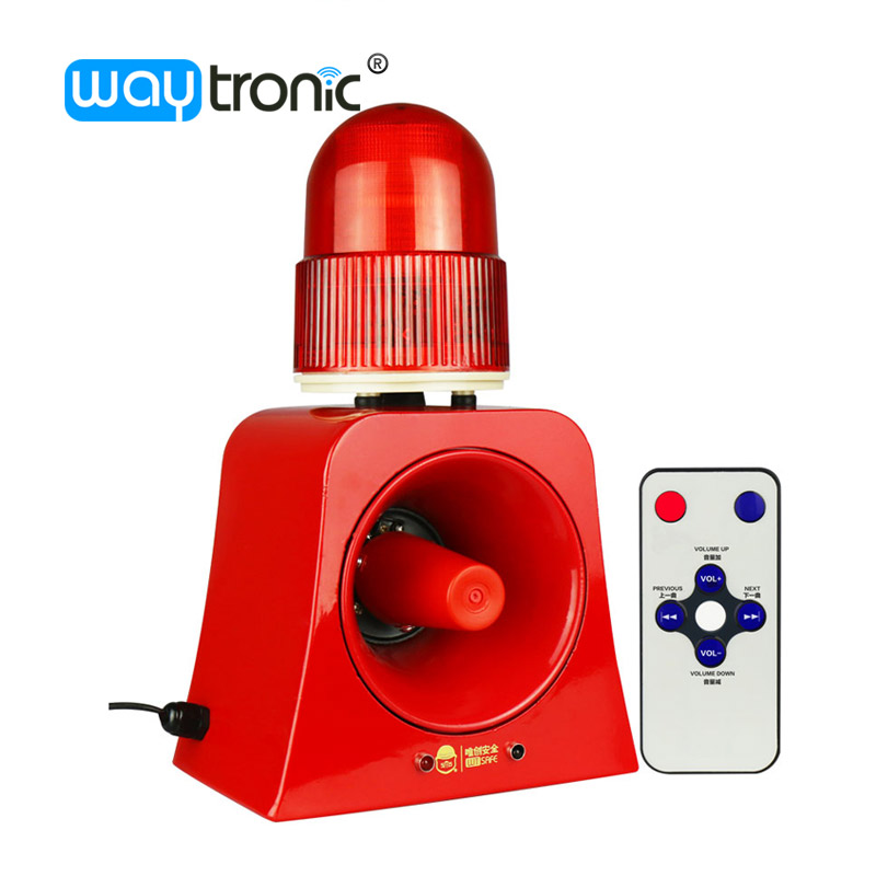 Warning Signal Beacon Light Horn Siren 120db Outdoor Audible and Visual Alarm Annunciator for Safety Prompt 12V 24V 220V ms 490 ac 110v 220v 150db motor driven air raid siren metal horn double industry boat alarm