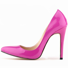 2016 Plus Size 35-42 Shoes Woman Red Bottom High Heels Brand Genuine Leather Women Pumps Pointed Toe High Heels W803