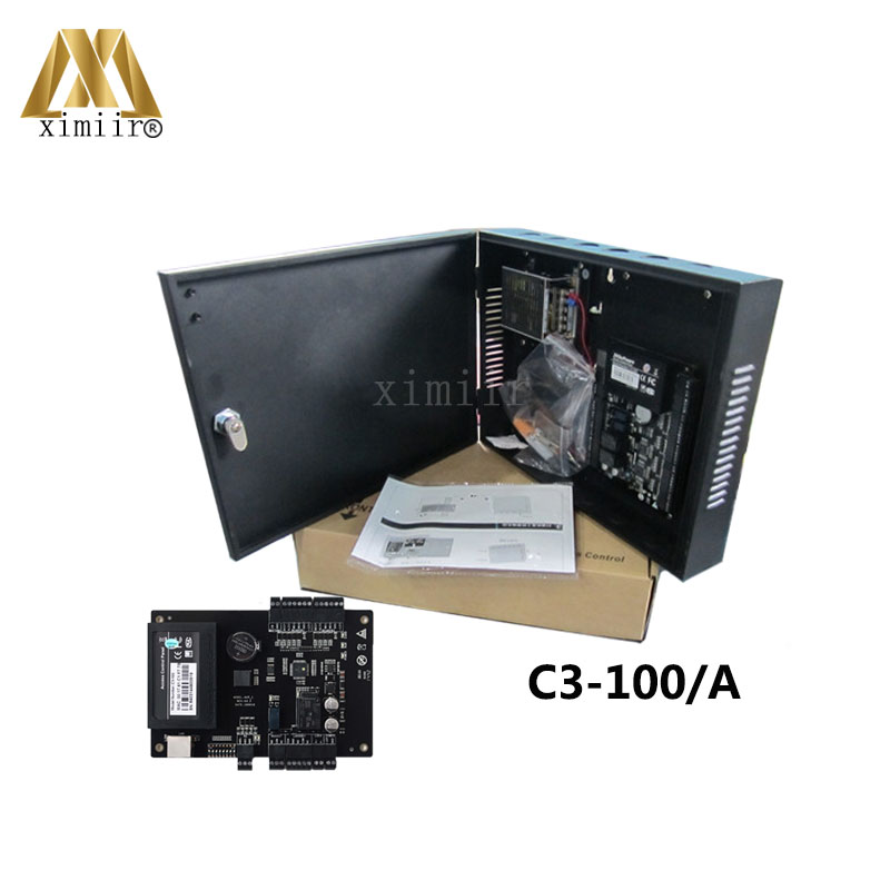 Free Shipping ZK C3-100 Single door TCP/IP Access Control Panel Access Control System With Power Supply And Protect Box arashi ninja250 motorcycle parts carbon fiber tank cover gas fuel protector case for kawasaki ninja250 2008 2009 2010 2011 2012