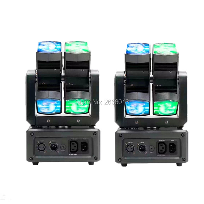 2pcs/lot LED rotating head light led 9x10w RGBW beam moving head light Two wheel rotating effect DMX Stage light Free Shipping