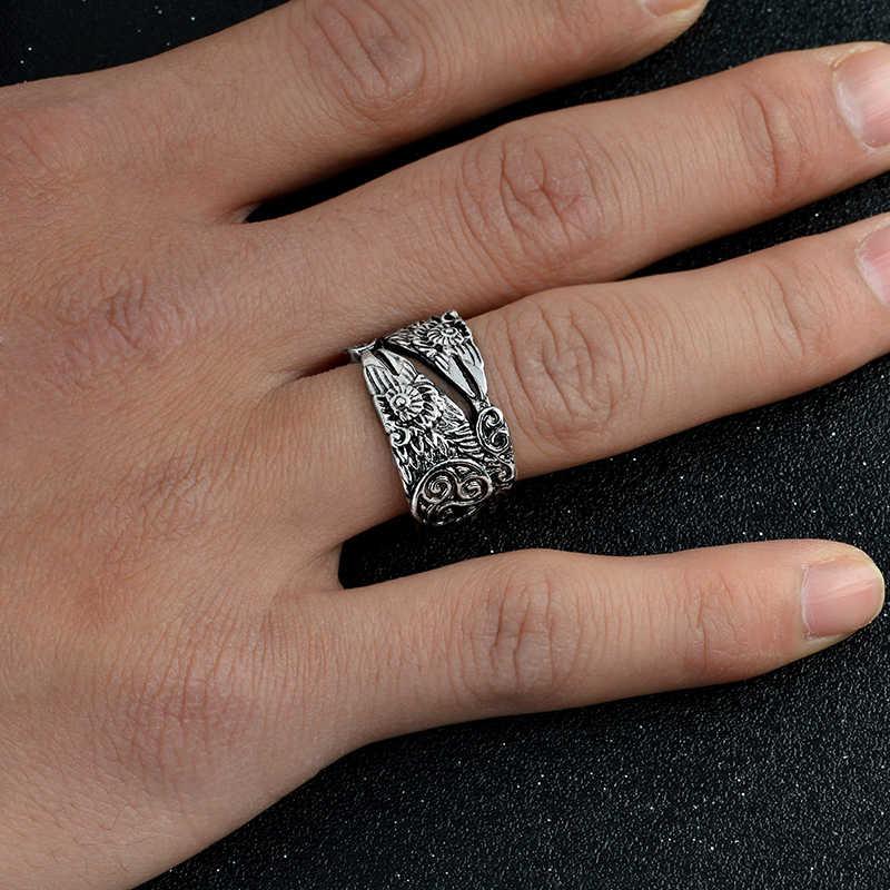 Mito gothic odin corvo anel huginn e muninn anéis para homens religião anel viking jóias estilo viking presente para ele