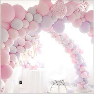 Image 2 - 100pc/lot 10 inch Macaron Latex balloons Wedding Birthday Decoration Globos Baby Shower Girl Birthday Party Pastel Balloons