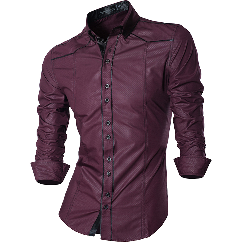Casual Jeans Long Sleeve Casual Slim Fit Shirts 3