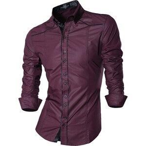 Image 5 - Jeansian אביב סתיו תכונות חולצות גברים מקרית ג ינס חולצה הגעה חדשה ארוך שרוול מקרית Slim Fit זכר חולצות Z034