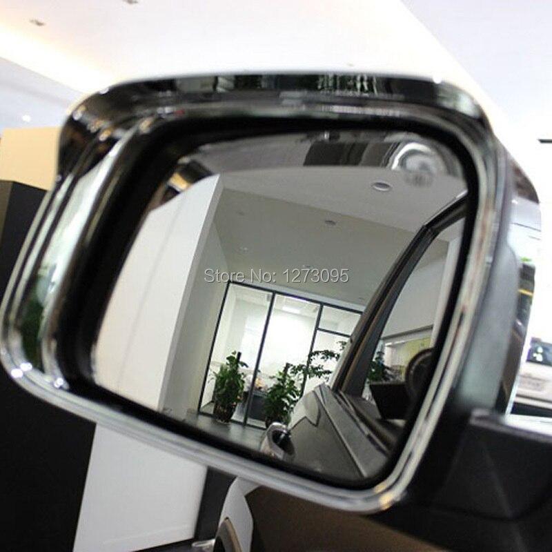 ФОТО ABS Chrome Sun Rain Visor Guard Shield Deflector Trim Side Door Mirror Frame Cover Decoration for Dodge Journey 2013 2014 2015