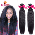 Brazilian virgin hair weave bundles kinky straight cheap human hair extensions 2pc lot queen weave beauty human hair weave