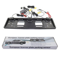 Auto Rearview System European License Plate Video Parking Sensor Reversing Radar With HD Rear View Backup
