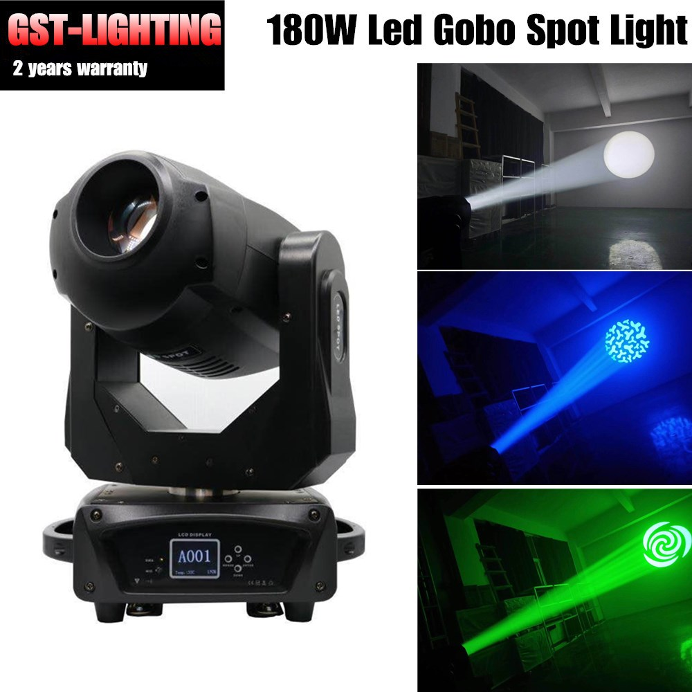 4pcs/lot 180W LED Spot Light/USA Luminums lamp 180W gobo moving head lights DJ