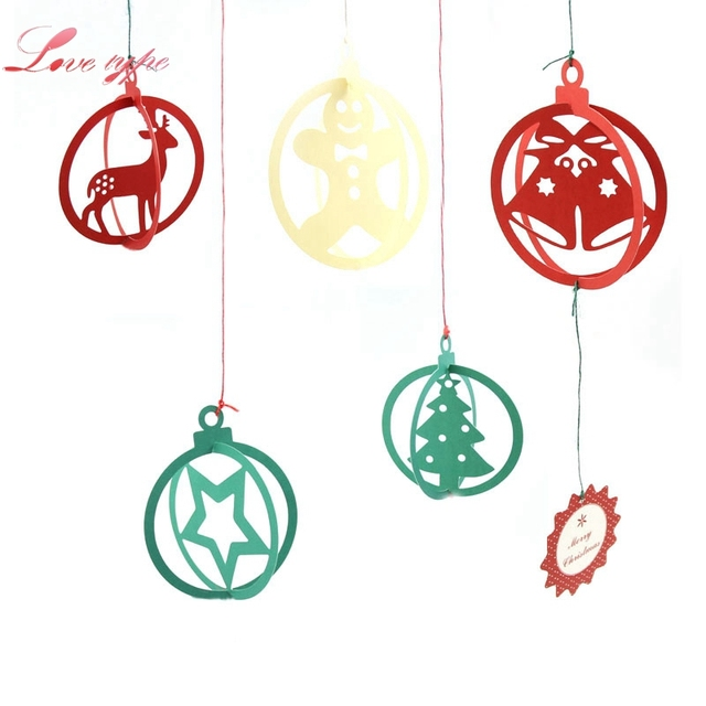 Frohe Weihnachten Anhänger.Us 4 36 3 Satz Paket Diy Weihnachten Schneeflocken Hirsch Baum Papier Anhänger Ornamente Home Frohe Weihnachten Party Dekoration Kinder