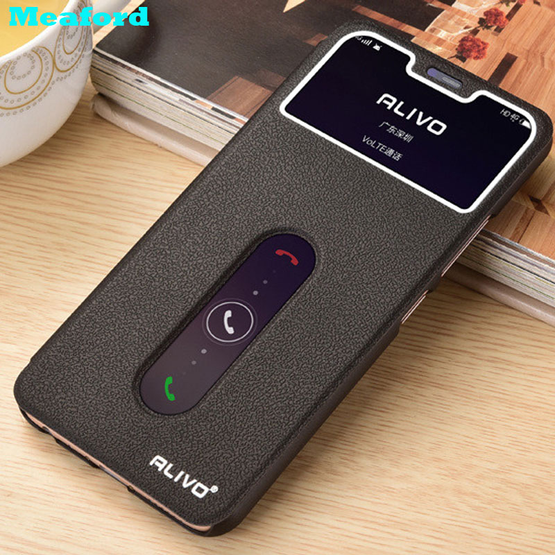 For <font><b>Vivo</b></font> Y17 <font><b>Case</b></font> Flip PU Leather Cover Luxury View Window Stand <font><b>Case</b></font> For <font><b>Vivo</b></font> Y17 Phone Cover <font><b>Cases</b></font> VivoY17 <font><b>Y15</b></font> Y12 U10 U3X image