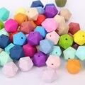 50 unid NUEVA Icosaedro Alivio Dentición Mordedores Para Bebés DIY Perlas de Silicona Chupetes Cadena Del Collar de La Joyería Colgantes de Los Encantos de la Pulsera