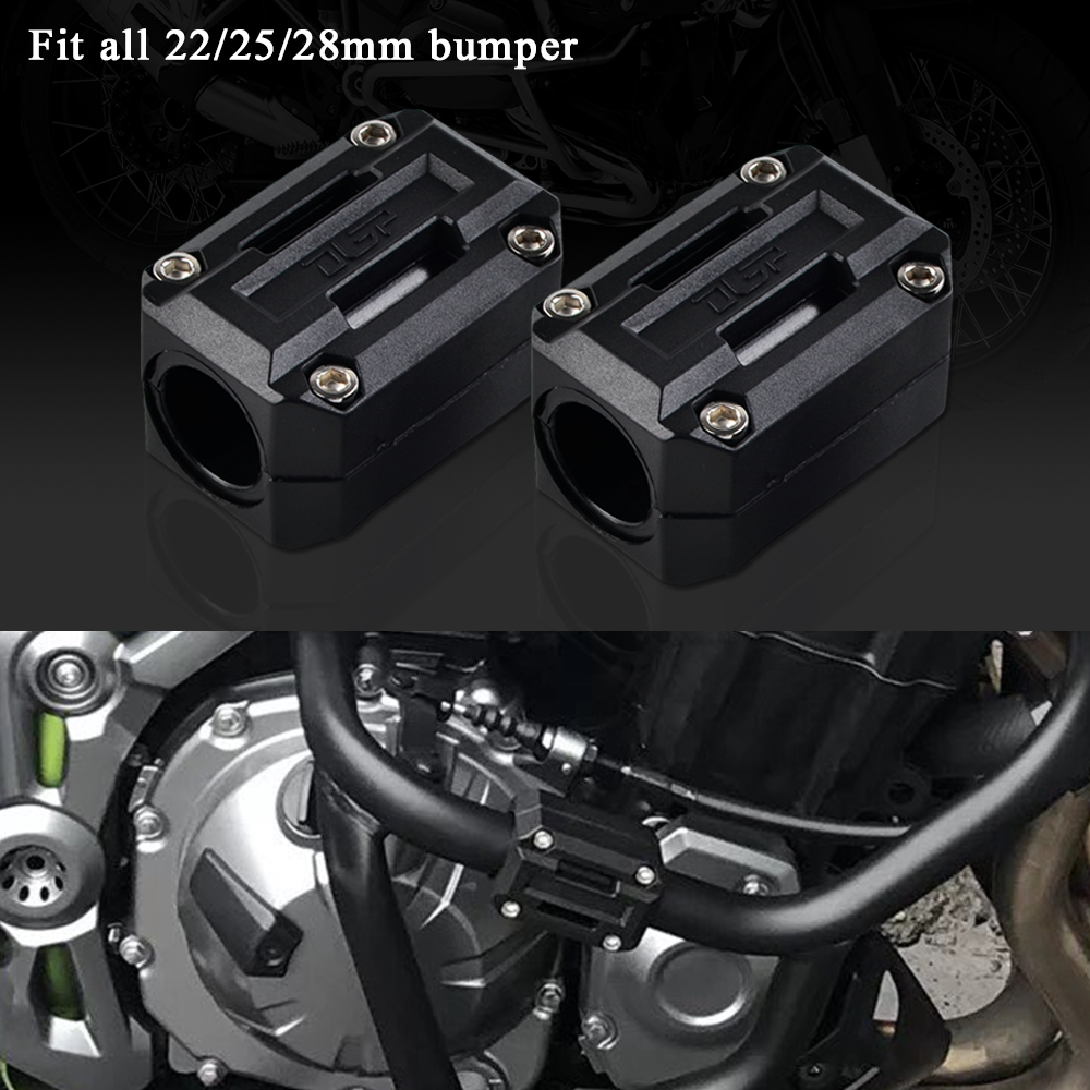 22/25/28mm Engine Protection Guard Bumper Decor Block For Honda Africa Twin CRF1000L NC700X NC 700X VFR1200X Crosstourer