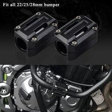 Protetor de motor 22/25/28mm, proteção contra choque, bloco de decoração para yamaha xt1200z, super tenere xt 1200z