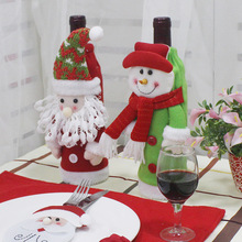 Santa Claus Wine Bottle Cover Bag Banquet Christmas Dinner Party Table Decor Snowman Festive New Years Supplies Noel Gift Bag