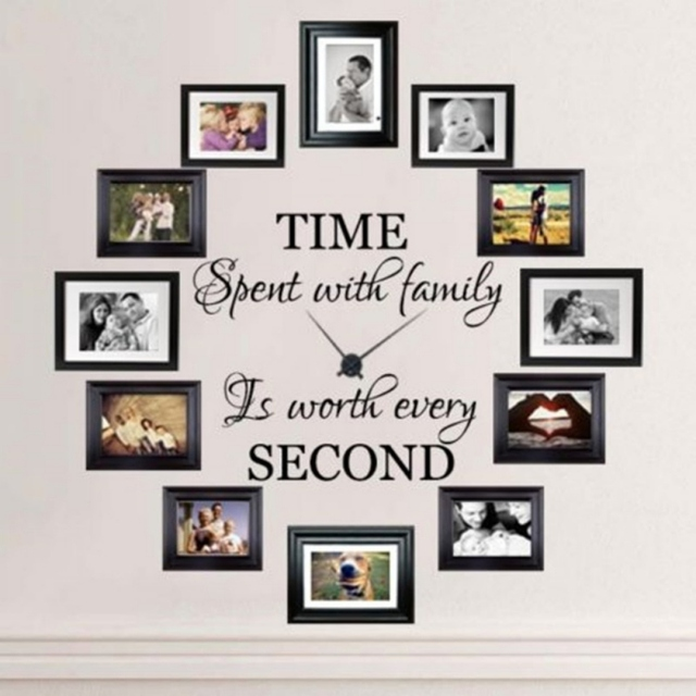 Time Spent With Family Adhesive Wall Sticker Quotes And Sayings