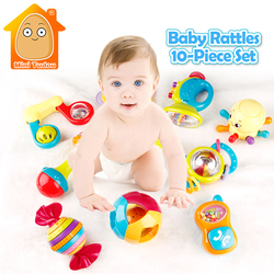 Minitudou baby toys 10pcs animal hand bells newbron teether toy colorful baby rattle plastic mobile musical.jpg 250x250