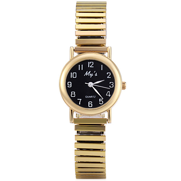 Men/Women Fashion casual Quartz Watch Stainless Steel Contains Elastic Strap Des
