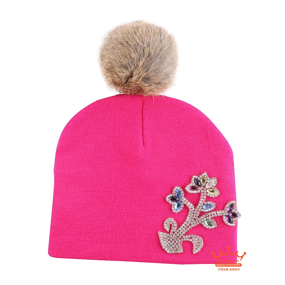 0-2 year old baby kids floral beautiful beanies high quality cotton material thermal boy girl fashion winter hat luxury gorros