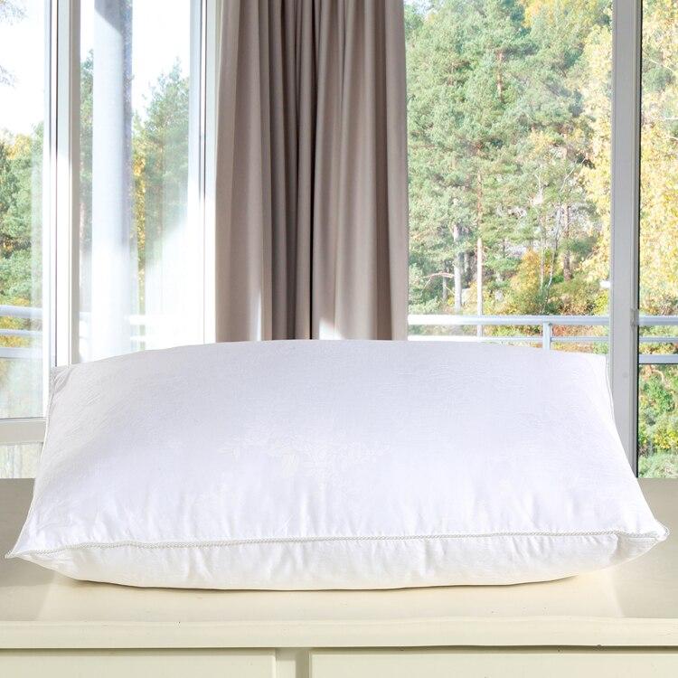100 뽕나무 실크 베개 수 놓은 목 베개 48*74 cm 5 성급 호텔 실크 베개 잠자는 건강을위한-에서침구 베개부터 홈 & 가든 의  그룹 1