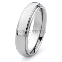 6mm USA size 4.5 to 15 comfort fit custom ladies and mens titanium steel rings wedding band