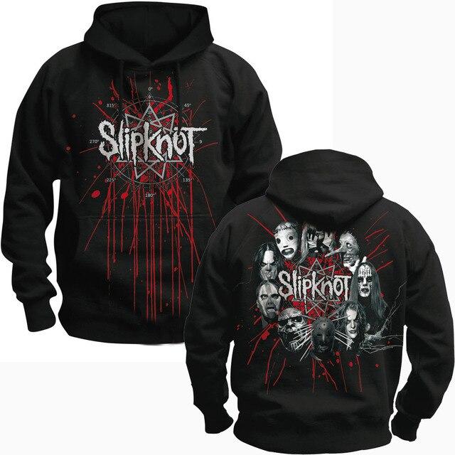 Bloodhoof SLIPKNOT אלטרנטיבי מתכת שחור בסוודרים הסווטשרט אסיה גודל