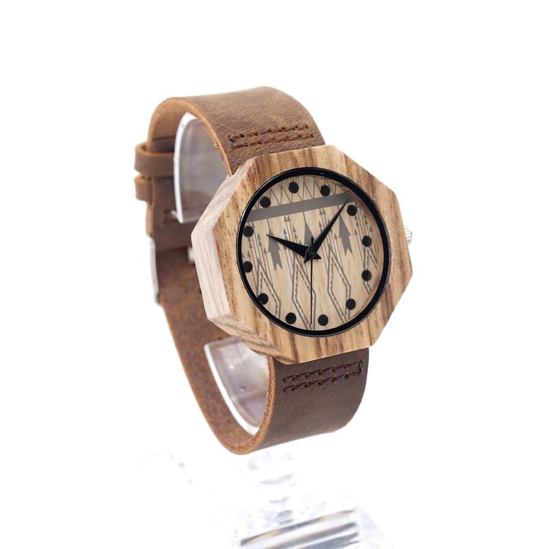 Image 3 - BOBO BIRD V D04 Octagon Wooden Watches Women Luxury Quartz Clock Cool Lady Dress Leather Wristwatch in Gift Boxwristwatch womenwristwatches clockwristwatch quartz watch -