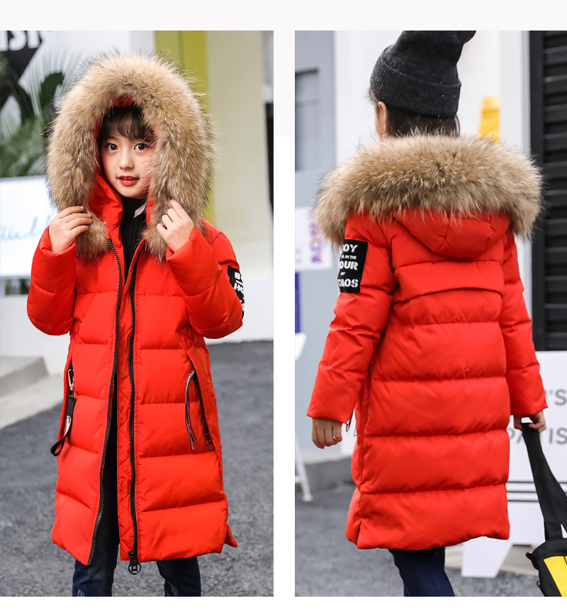 Mioigee 2018 Winter Children's Down Jacket Coats Girl's Long Thicken Outdoor Warm Parkas Snowsuit casacos de inverno цены онлайн