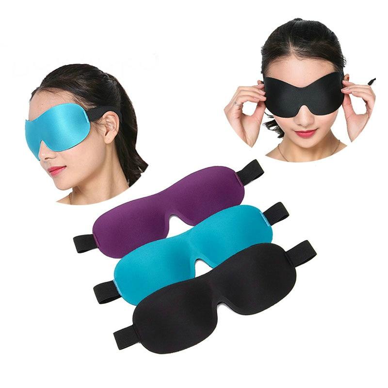 3D Soft Padded Blindfold Blackout Eye Mask Ear Plugs Travel Rest Sleep Aid