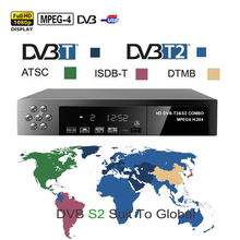 Satellite receiver HD Digital DVB T2+S2 TV Tuner Receivable DVB-T2 TV Receiver dvb-t2 dvb-s2 H.264 MPEG-2/4 for Russia  Europe