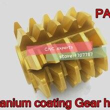 1 шт. M0.5/M0.6/M0.8/M1.0/M2.0/M3.0M/M4.0 модуль PA 20 градусов HSS титановое покрытие шестерни плита шестерни режущие инструменты