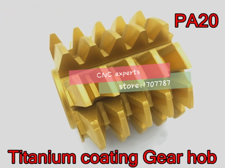 1PCS M0.5/M0.6/M0.8/M1.0/M2.0/M3.0M/M4.0 Modulus  PA 20 Degrees HSS Titanium Coating Gear Hob Gear Cutting Tools Free Shipping