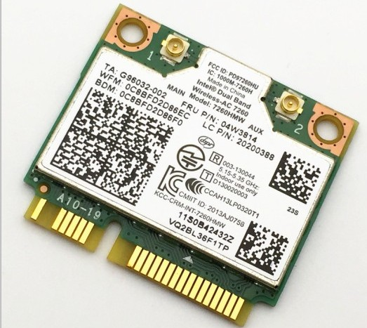 New Orig Dual Band Wireless AC 7260 WiFi Bluetooth 4 0 Combo card 04W3814 20200388 For